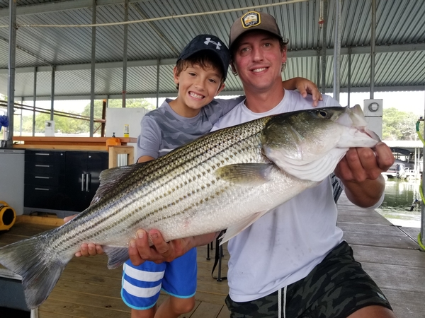 Striper Guide Stephen Andre's Lake Texoma Fishing Reports