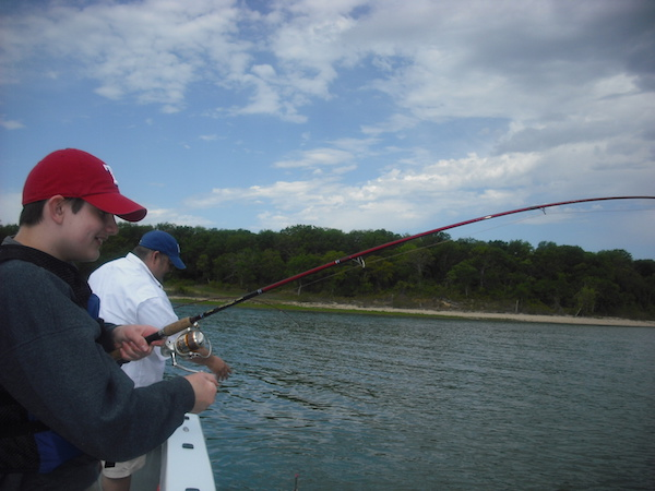 Texoma Striper Fishing Spring 2017 is GREAT with Guide Stephen Andre