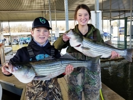Lake Texoma Spring Striper Fishing with Guide Stephen Andre